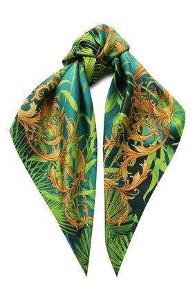 Женский шелковый платок VERSACE зеленого цвета, арт. IF09001/A234783 | Фото 1
