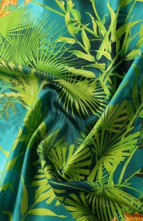 Женский шелковый платок VERSACE зеленого цвета, арт. IF09001/A234783 | Фото 2