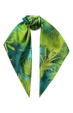 Женский шелковый платок VERSACE зеленого цвета, арт. IF09001/A234780 | Фото 1