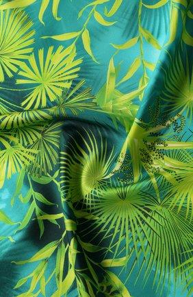 Женский шелковый платок VERSACE зеленого цвета, арт. IF09001/A234780 | Фото 2