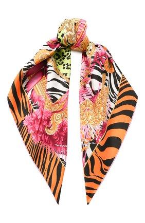 Женский шелковый платок VERSACE разноцветного цвета, арт. IF09001/A234777   Фото 1