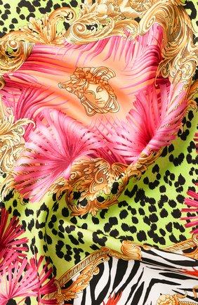 Женский шелковый платок VERSACE разноцветного цвета, арт. IF09001/A234777   Фото 2