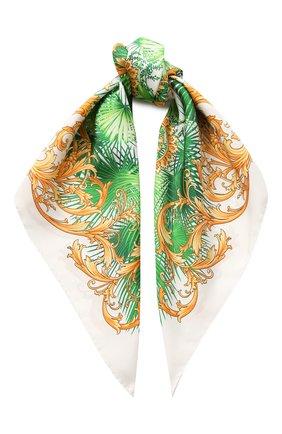 Женский шелковый платок VERSACE зеленого цвета, арт. IF09001/A234775 | Фото 1