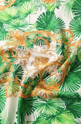 Женский шелковый платок VERSACE зеленого цвета, арт. IF09001/A234775 | Фото 2