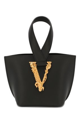 Женская сумка virtus VERSACE черного цвета, арт. DBFH523/D5VIT | Фото 1