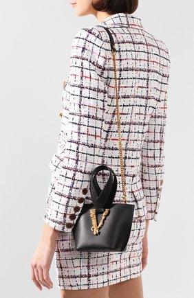Женская сумка virtus VERSACE черного цвета, арт. DBFH523/D5VIT | Фото 2