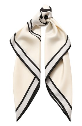 Женский шелковый платок BURBERRY белого цвета, арт. 8029817 | Фото 1