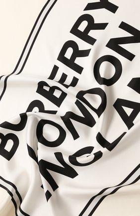 Женский шелковый платок BURBERRY белого цвета, арт. 8029817 | Фото 2