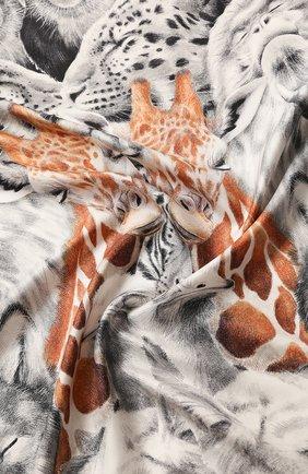 Женский шелковый платок BURBERRY коричневого цвета, арт. 8027564 | Фото 2
