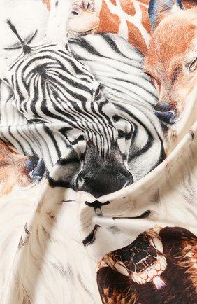 Женский шелковый платок BURBERRY бежевого цвета, арт. 8027362 | Фото 2