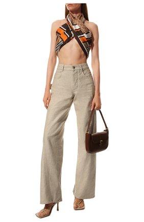 Мужские шелковый шарф BURBERRY оранжевого цвета, арт. 8026542 | Фото 2