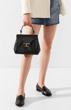 Женская сумка t singola TOD'S черного цвета, арт. XBWTSIJ0100R0R | Фото 2