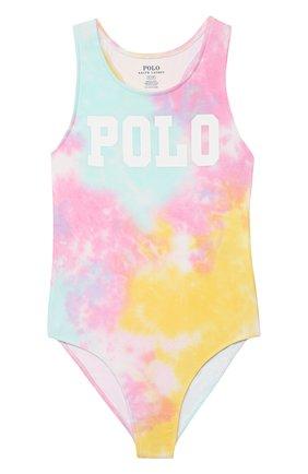 Детского слитный купальник POLO RALPH LAUREN разноцветного цвета, арт. 313785861   Фото 1