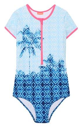 Детского слитный купальник SUNUVA голубого цвета, арт. S2711/7-14 | Фото 1