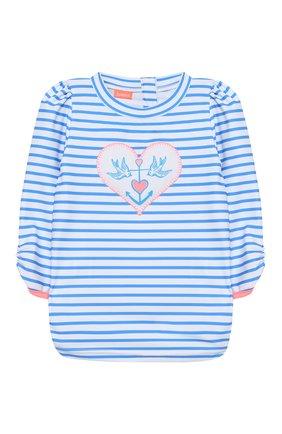 Детский пляжный лонгслив SUNUVA голубого цвета, арт. S2000 | Фото 1