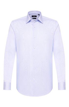 Мужская хлопковая сорочка BOSS голубого цвета, арт. 50428384 | Фото 1