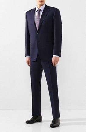 Мужская хлопковая сорочка BOSS голубого цвета, арт. 50428384 | Фото 2