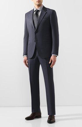 Мужская хлопковая сорочка ETON серого цвета, арт. 1000 01192 | Фото 2