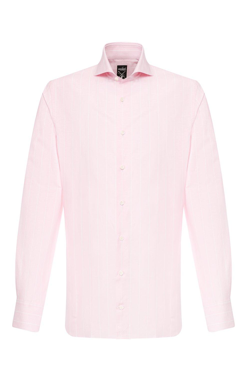 Мужская сорочка из смеси хлопка и льна VAN LAACK розового цвета, арт. MES0-SF/151804   Фото 1