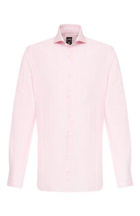 Мужская сорочка из смеси хлопка и льна VAN LAACK розового цвета, арт. MES0-SF/151804 | Фото 1