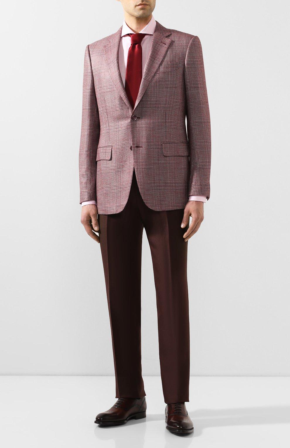 Мужская сорочка из смеси хлопка и льна VAN LAACK розового цвета, арт. MES0-SF/151804   Фото 2