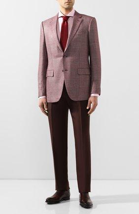 Мужская сорочка из смеси хлопка и льна VAN LAACK розового цвета, арт. MES0-SF/151804 | Фото 2