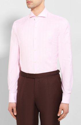 Мужская сорочка из смеси хлопка и льна VAN LAACK розового цвета, арт. MES0-SF/151804   Фото 3