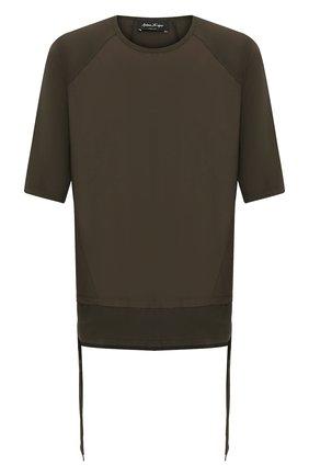 Мужская хлопковая футболка ANDREA YA'AQOV хаки цвета, арт. 20M0PW23 | Фото 1