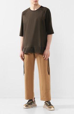 Мужская хлопковая футболка ANDREA YA'AQOV хаки цвета, арт. 20M0PW23 | Фото 2
