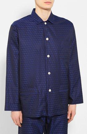 Мужская хлопковая пижама ROBERTO RICETTI темно-синего цвета, арт. PIGIAMA VENEZIA LUNG0/KING JACQUARD2539-604D | Фото 2