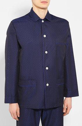 Мужская хлопковая пижама ROBERTO RICETTI темно-синего цвета, арт. PIGIAMA VENEZIA LUNG0/KING JACQUARD2576-604D | Фото 2