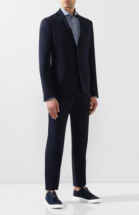 Мужской шерстяной костюм GIORGIO ARMANI темно-синего цвета, арт. 0SGAV018/T01GU | Фото 1