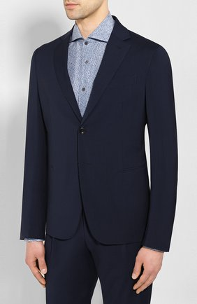 Мужской шерстяной костюм GIORGIO ARMANI темно-синего цвета, арт. 0SGAV018/T01GU | Фото 2
