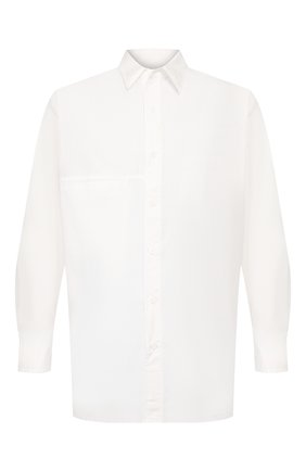 Мужская хлопковая рубашка YOHJI YAMAMOTO белого цвета, арт. HN-B01-001 | Фото 1