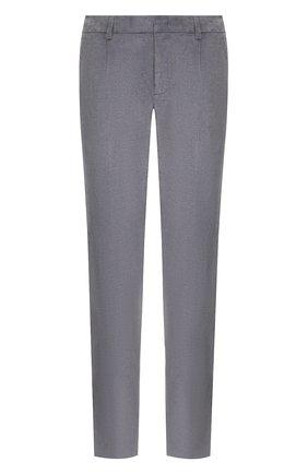 Мужские брюки из смеси хлопка и кашемира LORO PIANA темно-серого цвета, арт. FAL1514 | Фото 1 (Материал внешний: Хлопок; Длина (брюки, джинсы): Стандартные; Случай: Повседневный; Стили: Кэжуэл)