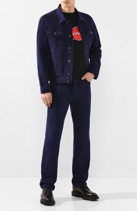 Мужская джинсовая куртка Y/PROJECT фиолетового цвета, арт. JACK56-S18 D03 | Фото 2