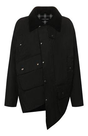 Мужская хлопковая куртка Y/PROJECT черного цвета, арт. JACK59-S18 F147 | Фото 1