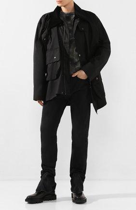 Мужская хлопковая куртка Y/PROJECT черного цвета, арт. JACK59-S18 F147 | Фото 2
