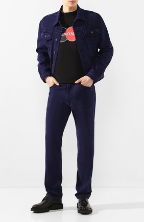 Мужские джинсы Y/PROJECT фиолетового цвета, арт. JEAN22-S18 D03 | Фото 2