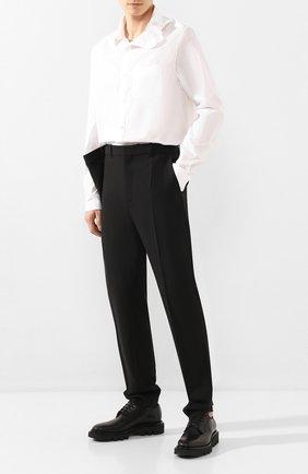 Мужской шерстяные брюки Y/PROJECT черного цвета, арт. PANT45-S18 F107 | Фото 2