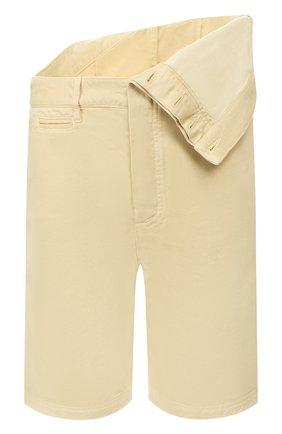 Мужские хлопковые шорты Y/PROJECT бежевого цвета, арт. PANT50-S18 F150 | Фото 1