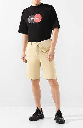Мужские хлопковые шорты Y/PROJECT бежевого цвета, арт. PANT50-S18 F150 | Фото 2