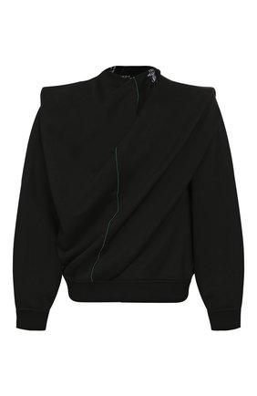 Мужской свитшот из смеси хлопка и льна Y/PROJECT черного цвета, арт. SWEAT35-S18 J22 | Фото 1