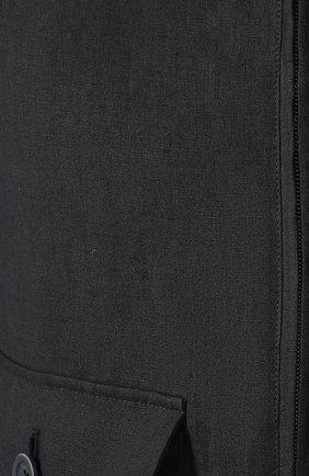 Мужской льняной бомбер HERNO темно-синего цвета, арт. GI0190U/17105   Фото 5