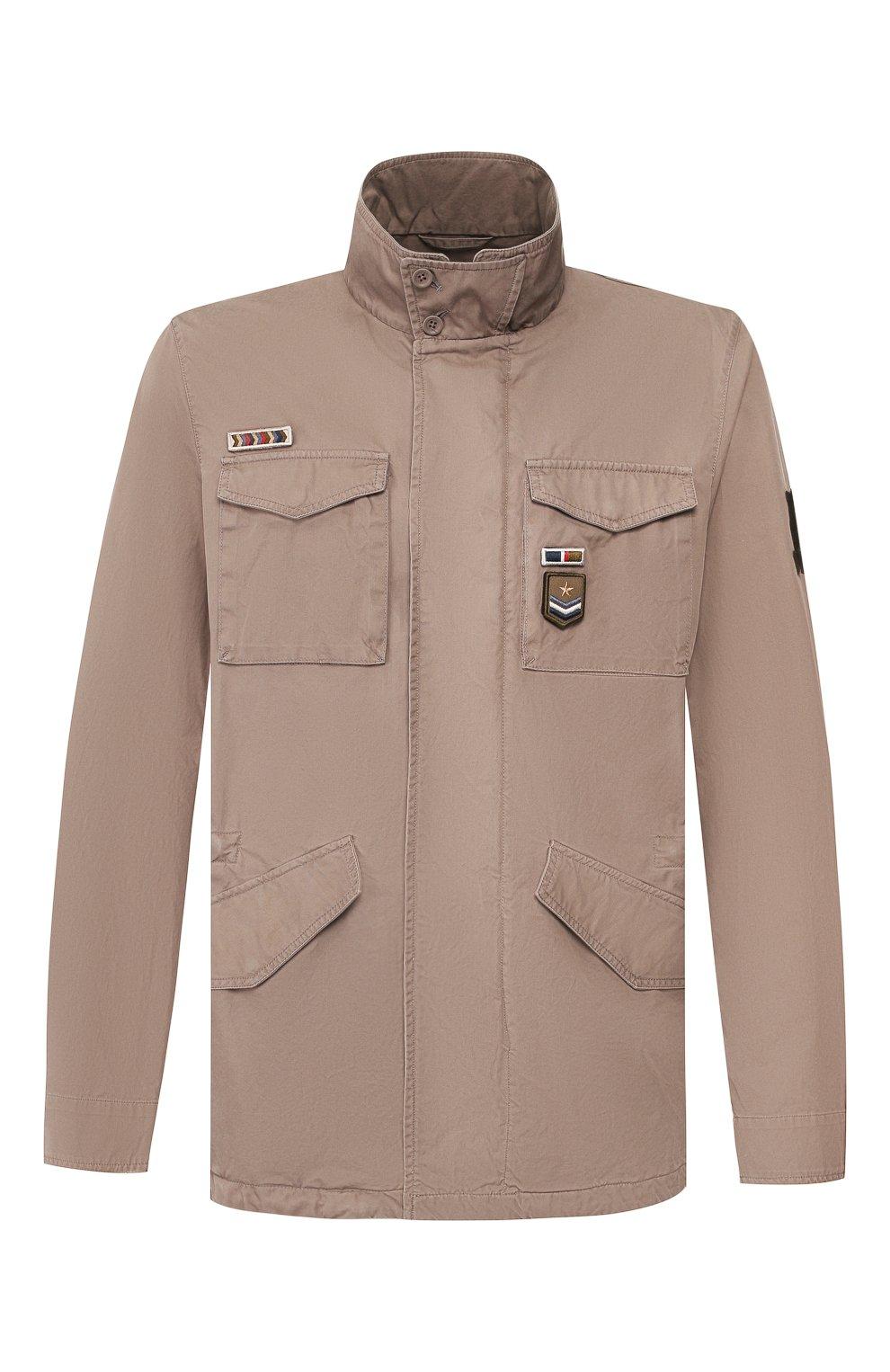 Мужская хлопковая куртка HERNO темно-бежевого цвета, арт. FI0065U/13211 | Фото 1