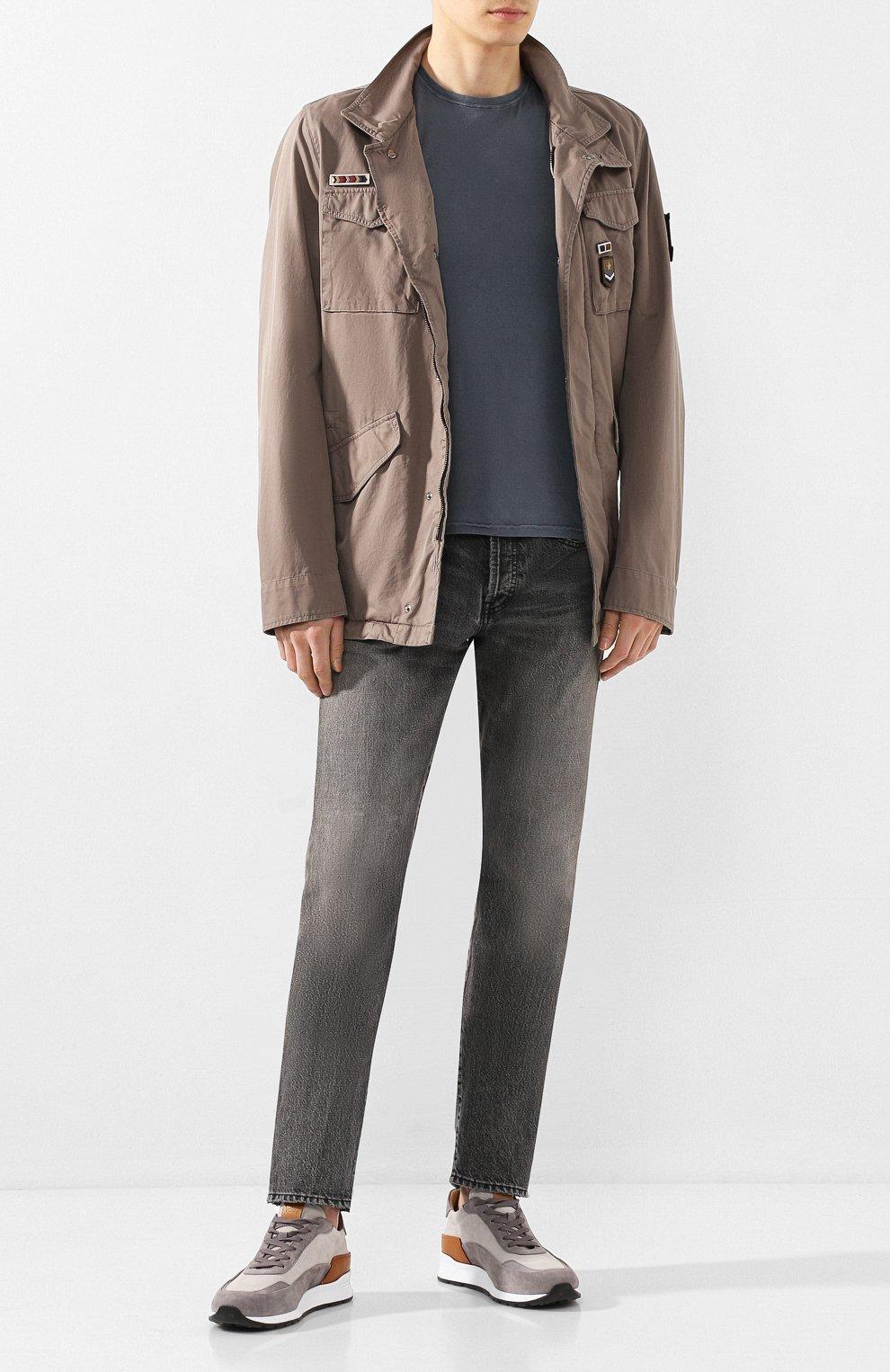 Мужская хлопковая куртка HERNO темно-бежевого цвета, арт. FI0065U/13211 | Фото 2