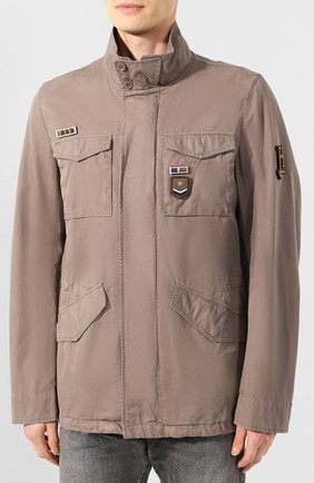 Мужская хлопковая куртка HERNO темно-бежевого цвета, арт. FI0065U/13211 | Фото 3