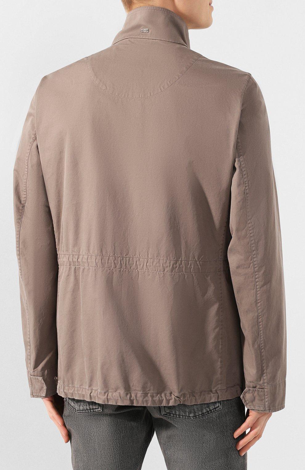 Мужская хлопковая куртка HERNO темно-бежевого цвета, арт. FI0065U/13211 | Фото 4