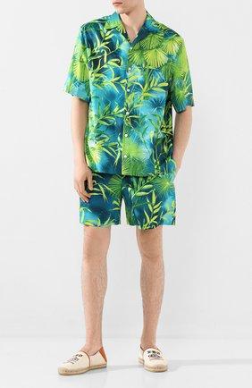 Мужские шорты VERSACE зеленого цвета, арт. A85954/A234748 | Фото 2