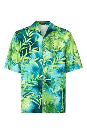 Мужская рубашка VERSACE зеленого цвета, арт. A85919/A234748   Фото 1